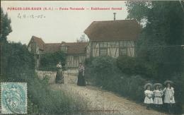 76 FORGES LES EAUX / La Ferme Normande, L'Etablissement Thermal / CARTE COULEUR - Forges Les Eaux