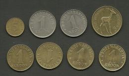ESTLAND Estonia Estonie Lot Coins 1992 - 2006 . 1 Kroon Coins Are All Different Years !!! - Estonia