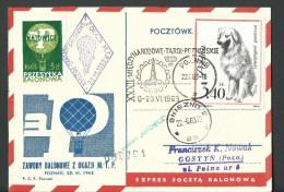 "1963. REG.POSTCARD. NATIONAL BALLOON RACE  ON BALON "" KATOWICE "" - Poste Aérienne"