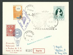 "1963. REG.POSTCARD.INTER NATIONAL BALLOON RACE  ON BALON "" SYRENA "" - Poste Aérienne"