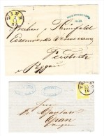 Österreich -  1860 - 2 Briefe Mit Je Mi.#10 Wien Nach Peggau Und Triest Nach Gran Ungarn - Briefe U. Dokumente