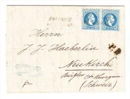 Österreich -  1875 - Brief Von Saloniki Nach Neukrich TG CH - Transit Stempel Triest - Mit Inhalt - Briefe U. Dokumente