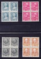 Österreich - 1910 Farb Proben Gezähnt Mi.#162, 164, 163 U. 165 In Viereblock ** - Probe- Und Nachdrucke