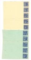Österreich - 1908 2 H. Merkurkopf Zeitungsmarke Je 5 X A 2 Farben Verschiedenen Probedruck Blättern - Probe- Und Nachdrucke