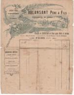 EN TETE VALANSANT PERE ET FILS PEPINIERES DU FOREZ à FEURS (LOIRE) 191? - 1900 – 1949