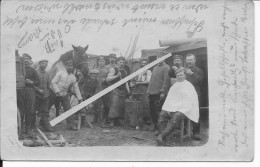 Verdun Secteur Douaumont Thiaumont  Maréchal Ferrant Allemand Et Coiffeur 1 Carte Photo 1914-1918 14-18 Ww1 WwI Wk - Guerra, Militares