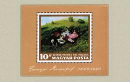Hungary 1966. Paintings - I. - Sheet MNH (**) Michel: Block 56A /14 EUR - Künste