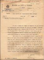 AUTOGRAFO MINISTRO POSTE CARLO SCHANZER 1906 - Autographs