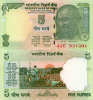 India 5 Rupees ND(2010) Pick NEW UNC - India
