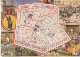 LES ARRONDISSEMENTS DE PARIS ILLUSTRES - Carte Geographique Du 10eme Arrondissement. - Arrondissement: 10