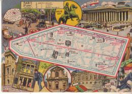 LES ARRONDISSEMENTS DE PARIS ILLUSTRES - Carte Geographique Du 2eme Arrondissement. - Arrondissement: 02