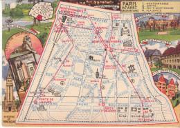 LES ARRONDISSEMENTS DE PARIS ILLUSTRES - Carte Geographique Du 14eme Arrondissement. - Arrondissement: 14