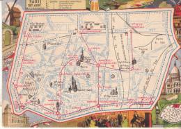 LES ARRONDISSEMENTS DE PARIS ILLUSTRES - Carte Geographique Du 18eme Arrondissement. - Arrondissement: 18