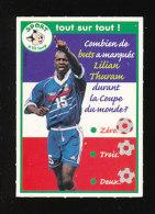 Image-fiche Question-Réponse / Sport Football Coupe Du Monde 1998 - Lilian Thuram  // IM 126/24 - Vieux Papiers