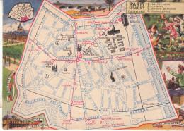 LES ARRONDISSEMENTS DE PARIS ILLUSTRES - Carte Geographique Du 13eme Arrondissement. - Arrondissement: 13