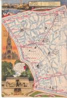 LES ARRONDISSEMENTS DE PARIS ILLUSTRES - Carte Geographique Du 20eme Arrondissement. - Arrondissement: 20