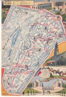 LES ARRONDISSEMENTS DE PARIS ILLUSTRES - Carte Geographique Du 20eme Arrondissement. - Arrondissement: 16