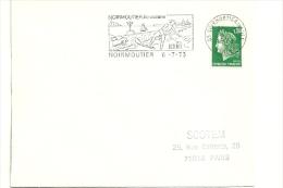 VENDÉE - Dépt N° 85 = NOIRMOUTIER En L' ILE 1973 = FLAMME Type II = SECAP Illustrée = ILE OCEANE - Postmark Collection (Covers)