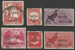 Pakistan. 1961 New Currency Official Overprints. Used Complete Set - Pakistan