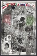 CZECH REPUBLIC CESKA 2014 Victims Of World War I, Souvenir Sheet MNH (Specimen) - Blocks & Kleinbögen