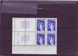 N° 1964 - 0,02F Sabine De GANDON - 1° Tirage Du 20.1.78 Au24.1.78 - Dernier Jour - (2 Traits) - 1970-1979