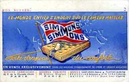 Buvard matelas Simmons n� 1