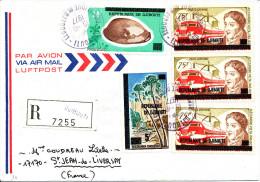 Djibouti 1977  ( Lettre Recommandée Avec 5 Valeurs  Surchargées Thème Coquillage - Arbre - A.Volta)  Peu Commun - Elettricità