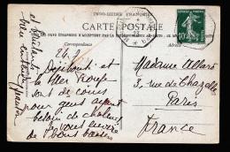 A2769) France Frankreich Karte Mit Seepost Marseille - Yokohama No.9 23.7.1923 - Poststempel (Briefe)