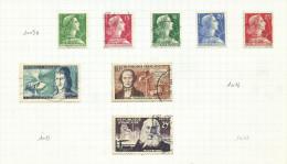 France N°1010 à 1013, 1016 Cote 7 Euros - Francia