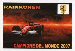 [DC1102] CARTOLINEA - FERRARI - RAIKKONEN CAMPIONE DEL MONDO 2007 - Grand Prix / F1