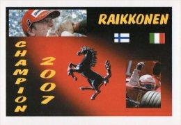 [DC1103] CARTOLINEA - FERRARI - RAIKKONEN CHAMPION 2007 - Grand Prix / F1