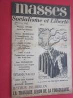 """Revue """"MASSES"""" Socialisme Et Liberté Déc 1946 Voir Les Différents Titres Illustration La Paix Sans Rameaux Mensuel N°6 - Livres, BD, Revues"""