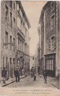 Cpa ,loire,st Bonnet Le Chateau,rue De La Chatelaine En 1938,veille De La 2 Guerre,café Roche, - Saint Etienne