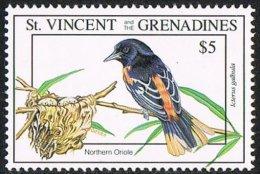 St Vincent SG2189 1993 Migratory Birds $5 Unmounted Mint - St.Vincent (1979-...)