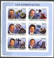 A0096 Space Astronautes Raumfahrt Espace 2008 Sheet MNH ** Imperf Imp - Space