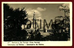 FATIMA - VISTA PARCIAL DO SANTUARIO - 1950 REAL PHOTO PC - Santarem