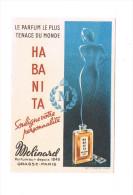 Habanita Le Parfum Le Plus Tenace Du Monde Molinarel Parfumeur Depuis 1849 Grasse Paris - Perfume Cards