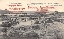 CPA 52 SIEGE DE LANGRES MANOEUVRES DE FORTERESSE 1906 DEBARQUEMENT MATERIEL DE CHEMIN DE FER - Langres