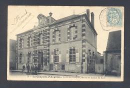 CHER 18 LA CHAPELLE D´ANGUILLON Ecole De Garçon Mairie Et Justice De Paix - France