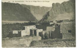 CP Alegerie  El Kantara Vue Sur Le Village Blanc Et Les Gorges - Algeria