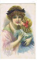 SAN MARCO - ART DECO POSTCARD 1920s - MOTHER & DAUGHTER - - Illustrateurs & Photographes