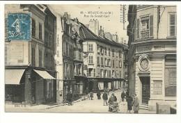 MEAUX Dpt77 Rue Du Grand Cerf De 1921 N°25 Animée Commerces Bar Tabac JB25 - Meaux