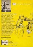 # 5/15 MONSANTO ST.LOUIS 1960s ITALY Advert Publicitè Reklame Chemistry Chemicals Plastic GMO Chemie Chimie Quimica OGM - Advertising