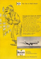 # 6/15 MONSANTO ST.LOUIS 1960s ITALY Advert Publicitè Reklame Chemistry Chemicals Plastic GMO Chemie Chimie Quimica OGM - Advertising