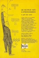 # 10/15 MONSANTO ST.LOUIS 1960s ITALY Advert Publicitè Reklame Chemistry Chemicals Plastic GMO Chemie Chimie Quimica OGM - Advertising
