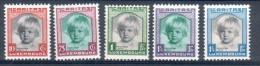 LUXEMBOURG LUSSEMBURGO 1931 SET PRINCESSE ALIX SERIE YT 234-238 MI 240-244  ** MNH - Luxemburgo