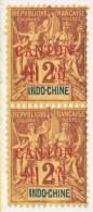 INDO-CHINE  CANTON  1A X 2     ** - Canton (1901-1922)