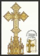 Portugal Madère Carte Maximum Croix De Procession Orfèvrerie 2014 Madeira Processional Cross Goldsmith Maxicard - Tarjetas – Máximo