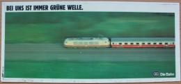 DB DIE BAHN BEI UNS IST IMMER GRUNE WELLE 1970 PLASTIC ADVERTISING - Plaques Publicitaires
