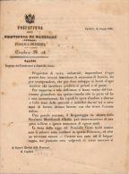 PREFETTURA PROVINCIA CAGLIARI SARDEGNA CONDANNATI DOMICILIO COATTO 1864 - Documenti Storici